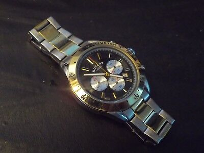 Gents Rotary Chronograph  Watch Spares Repair..