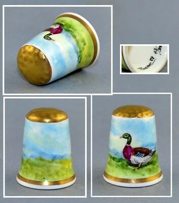 Graham Payne Hand Painted Thimble - Duck
