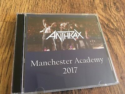 Anthrax Concert CD Manchester England 2017 Slayer Metallica