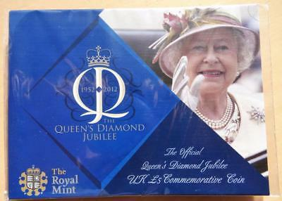 GB 2012 The Queen's Diamond Jubilee £5 Coin Pack - Royal Mint Commemorative Coin