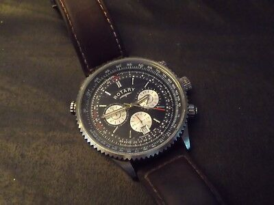 Smart Gents Rotary Chronograph  Watch Working Great Condition