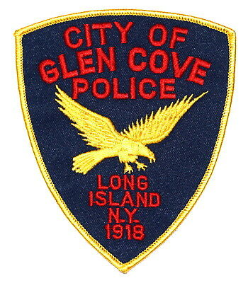 GLEN COVE CITY – LONG ISLAND NEW YORK NY Police Sheriff Patch FLYING EAGLE ~