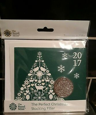 2017 Bu  Royal Mint Christmas Tree £5 Coin In Presentation Pack!ready To Post!