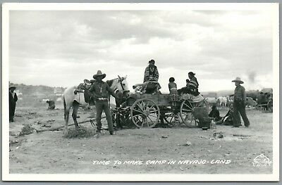 Time to Make Camp in Navajo Land - Frasher's RPPC Real Photo Postcard