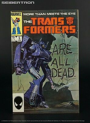 THE TRANSFORMERS #5 1985 Marvel Comics US G1 Comic Book