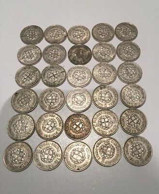 Three Pence Silver Coins (1940) x30