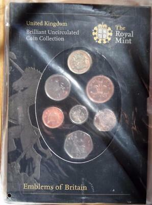 2008 Brilliant Uncirculated Coin Collection Emblems of Britain Coin Set SEALED