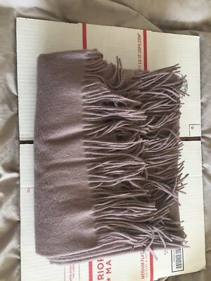 """Williams Sonoma Solid Cashmere Throw Rose 50"""" x 65"""" NEW"""