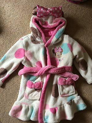 Girls Minnie Mouse Dressing Gown 12-18 Months