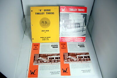 4 Wagner Catalogs & O Scale Bulletins
