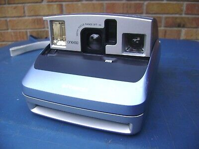 Polaroid One 600 Instant Film Camera One-600 Blue / Silver Vintage CHEAP SHIP