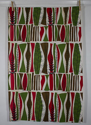 vintage 1954 Heals Coppice Mary White abstract trees print cotton fabric piece