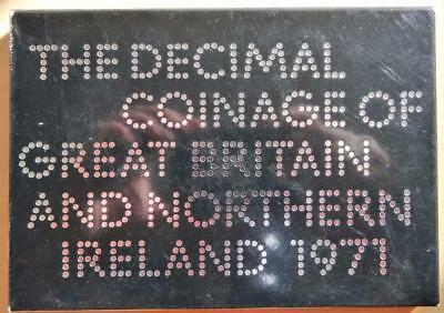GB 1971 Royal Mint Proof Coin Set Decimal Coinage of Great Britain N.Ireland