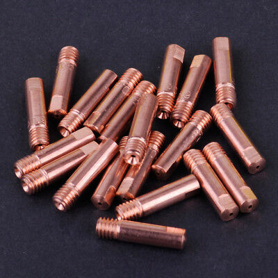 20pcs MB-15AK MIG/MAG Welding Torch Contact Tip M6 Copper Gas Nozzle 0.9 x 24mm