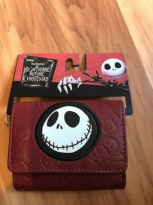 NWT Disney Nightmare Before Christmas Trifold Wallet Purse Key ring