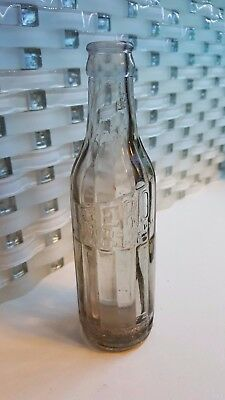 Rare Unique Zero Bottling Works Winnipeg Manitoba Canada Soda Bottle Grey Glass