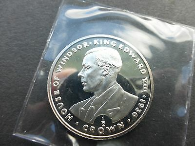Gibraltar 1993 Edward viii silver proof 1/2 crown coin sealed + unc      Ref 233