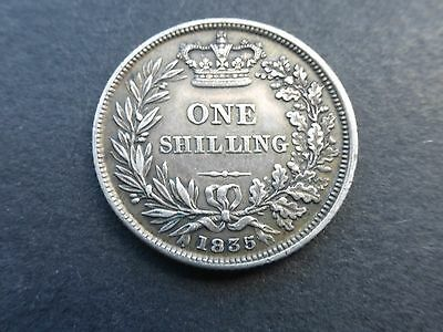 William iv silver shilling coin 1835 high grade       Ref 201