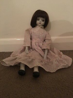 VERY CREEPY PORCELAIN DOLL - My Dog Barks At It- **Haunted?!** READ DESCRIPTION!