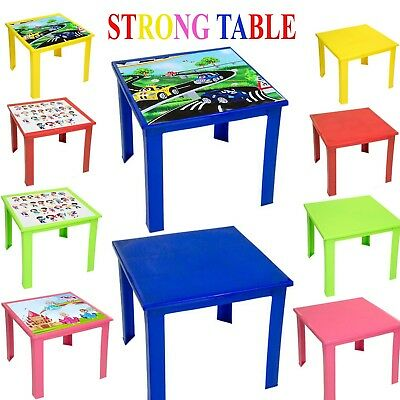 Kids Children Plastic Table Strong High Quality Stackable Suitable For Outdoor