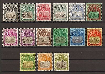 ST HELENA 1922-37 SG 97/112 Fine Used Cat £750