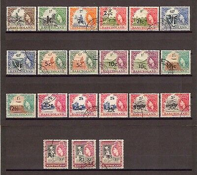 BASUTOLAND 1961 SG 58/68B incl SG listed varieties Used Cat £458