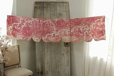 Antique French Toile de Rouen  Joseph Biblical toile  c1810-1820 red old