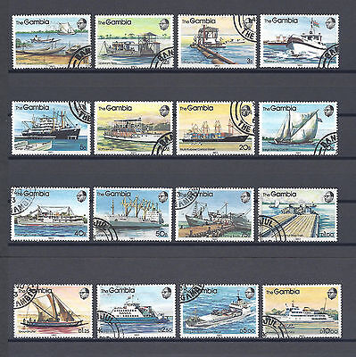GAMBIA 1983 SG 494/509 USED Cat £22