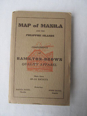 Map and Guide Book of Manila and the Philippine Islands c. 1930's