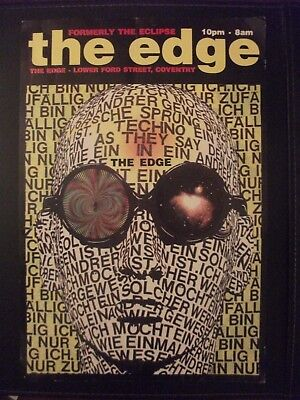 THE EDGE COVENTRY  - Rave Flyer - 1990'S