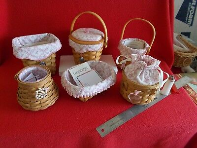 Splendid Mint State Lot Of Six Count (6) Longaberger Collector Baskets ..nice