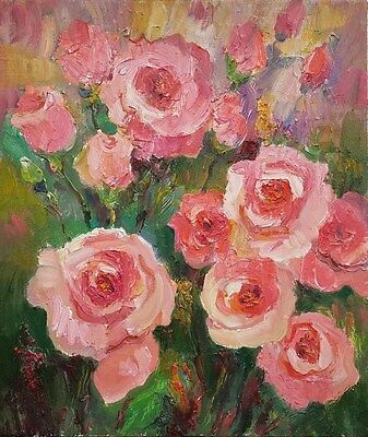 """lz97 Original Still Life Painting Oil/Canvas 35x 30cm 14"""" x 12"""" Signed Lily"""