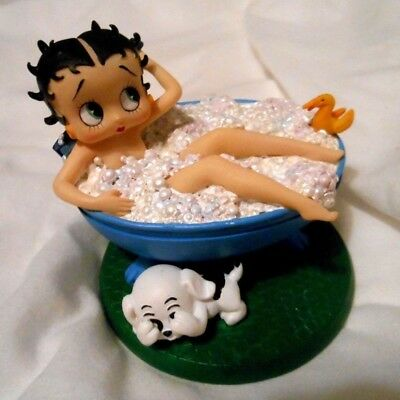 Betty Boop Retired Bubble Bathtub Trinket Box Figure New In Box Rare See Pics