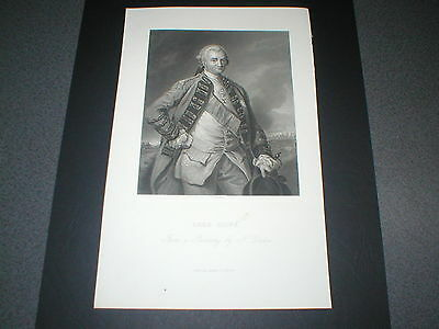 Robert Clive (Clive of India) Antique Engraving, 1800s