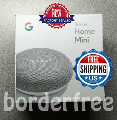 Google Home Mini - Chalk, Google Personal Assistant (GA00210-US) - BRAND NEW!