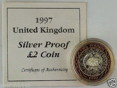 1997 Standing on the Shoulders of Giants Silver Proof £2 coin screw capsule COA