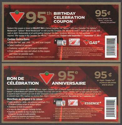 Canadian Tire Money - 95¢ note for 95th Anniversary of CTC - EXPIRED