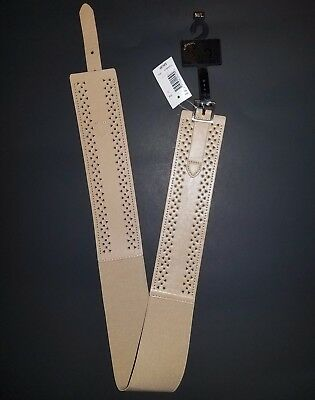 New With Tags GNW Women's Belt Size S/M Faux Leather Tan Color $25 Retail!