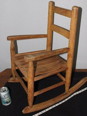 Old  OAK    Child's  slat   Rocker     Porch  rocker  Chair      Doll chair