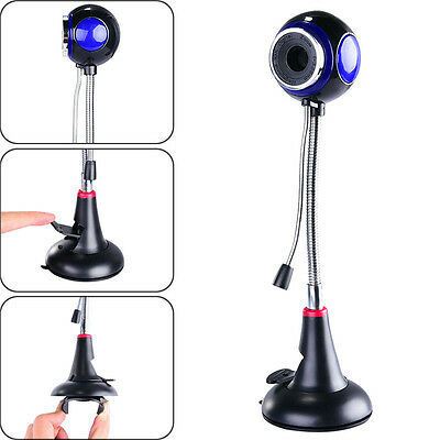 USB HD Webcam 360° Adjustable Web Cam PC Laptop Desktop Camera with Microphone