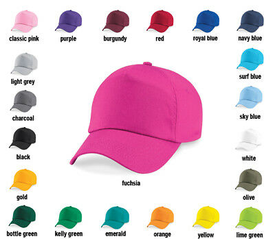 Plain Baseball Cap Hat - Girls, Boys, Kids, Childrens, Summer, Sun hat, Sports