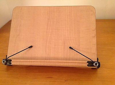 """Best Nice  Wooden Wood Bookstand Adjustable Spring Supports 11.5"""" X 7.5"""""""