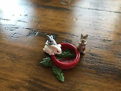 Schleich Baby Rabbits Eating Bowl of Lettuce #13725 Retired