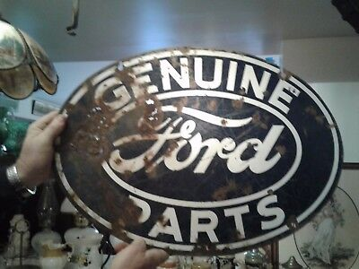 Antique Genuine Double Sided Ford Sign