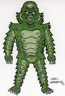 Fred Hembeck Sketch Card: Creature From The Black Lagoon 1/1