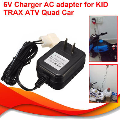New Wall AC Charger Adapter For 6V Battery Powered Ride On Car Kid TRAX ATV Quad