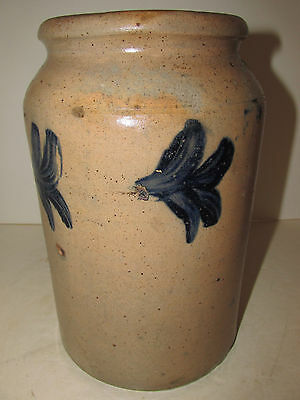 Antique Stoneware Jar, Cobalt, mid-atlantic. American