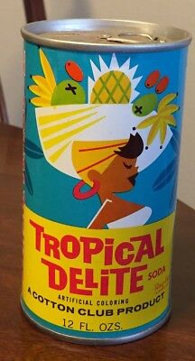 Vintage Tropical Delite Fruit Punch Pull Tab Soda Can
