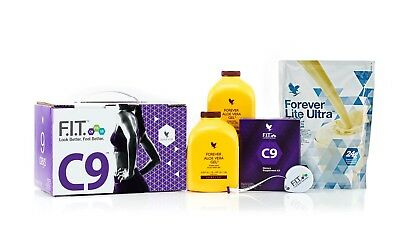 FOREVER LIVING - Clean 9 Pack - C9 Kit Cleanse 9 Day - Vanilla / Chocolate F/DEL