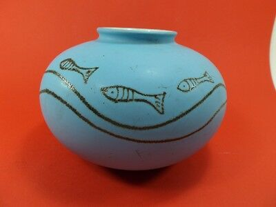 VASE BALL pattern fish W germany ref 690-12 /1960